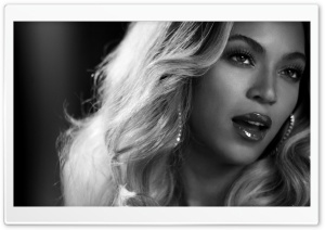 Beyonce Black And White Portrait HD Wide Wallpaper for Widescreen
