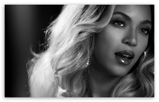 1080p Portrait Wallpaper: Beyonce Black And White Portrait 4K HD Desktop Wallpaper