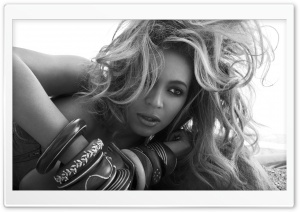 Beyonce In Black And White HD Wide Wallpaper for Widescreen