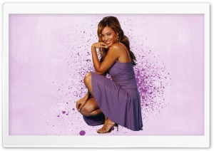 Beyonce In Purple Dress HD Wide Wallpaper for Widescreen