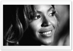 Beyonce Knowles BW HD Wide Wallpaper for Widescreen