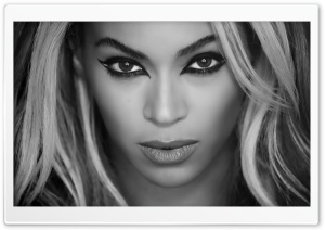 Beyonce Superpower Black and White HD Wide Wallpaper for 4K UHD Widescreen desktop & smartphone
