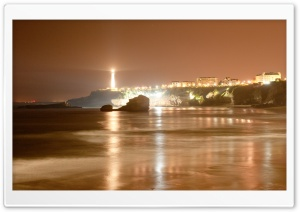 Biarritz Lighthouse, France HD Wide Wallpaper for Widescreen