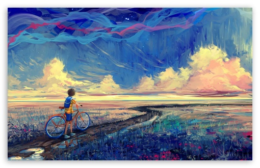 Download Bicycle Journey HD Wallpaper