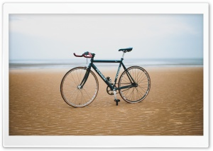Bicycle Sand Beach Ultra HD Wallpaper for 4K UHD Widescreen desktop, tablet & smartphone