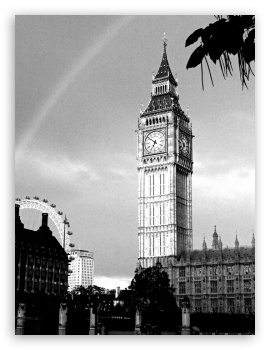 Big Ben HD wallpaper for iPad 1/2/Mini ; Mobile 4:3 5:3 3:2 - UXGA XGA SVGA WGA DVGA HVGA HQVGA devices ( Apple PowerBook G4 iPhone 4 3G 3GS iPod Touch ) ;