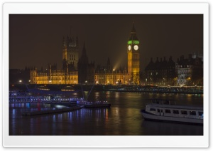 Big Ben At Night HD Wide Wallpaper for Widescreen