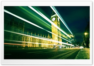 Big Ben By Night HD Wide Wallpaper for Widescreen