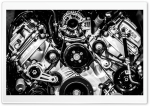 Big Block Engine HD Wide Wallpaper for Widescreen