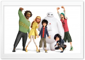 Big Hero 6 Characters HD Wide Wallpaper for Widescreen