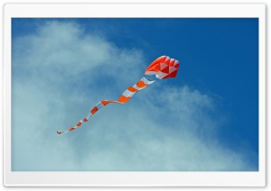 Big Orange Kite HD Wide Wallpaper for Widescreen