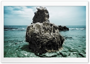 Big Rock Denia Beach Spain HD Wide Wallpaper for Widescreen