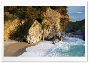 Big Sur, Julia Pfeiffer Burns State Park HD Wide Wallpaper for 4K UHD Widescreen desktop & smartphone