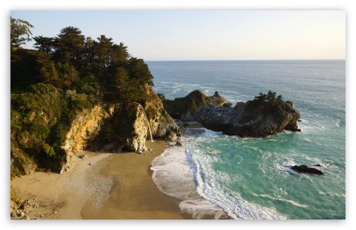 Pacific Ocean Big Sur California Beach 4k Hd Desktop: Big Sur, Julia Pfeiffer Burns State Park 4K HD Desktop
