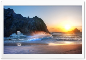 Big Sur Sunset HD Wide Wallpaper for Widescreen