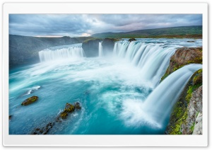 Big Waterfalls Clouds HD Wide Wallpaper for Widescreen