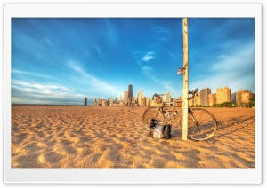 Bike On The Beach HD Wide Wallpaper for Widescreen