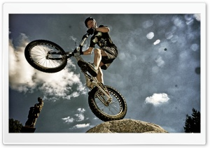 Bike Trial HD Wide Wallpaper for Widescreen