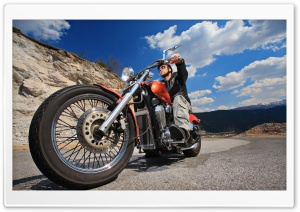 Biker HD Wide Wallpaper for Widescreen