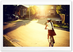 Biking Along HD Wide Wallpaper for Widescreen