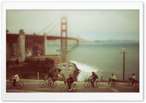 Biking in San Francisco HD Wide Wallpaper for Widescreen