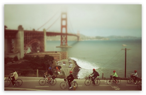 Biking in San Francisco HD wallpaper for Wide 16:10 5:3 Widescreen WHXGA WQXGA WUXGA WXGA WGA ; HD 16:9 High Definition WQHD QWXGA 1080p 900p 720p QHD nHD ; Standard 4:3 3:2 Fullscreen UXGA XGA SVGA DVGA HVGA HQVGA devices ( Apple PowerBook G4 iPhone 4 3G 3GS iPod Touch ) ; Tablet 1:1 ; iPad 1/2/Mini ; Mobile 4:3 5:3 3:2 16:9 - UXGA XGA SVGA WGA DVGA HVGA HQVGA devices ( Apple PowerBook G4 iPhone 4 3G 3GS iPod Touch ) WQHD QWXGA 1080p 900p 720p QHD nHD ;