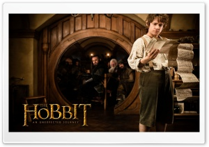 Bilbo Baggins in The Hobbit An Unexpected Journey HD Wide Wallpaper for 4K UHD Widescreen desktop & smartphone