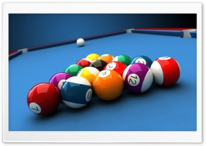 Billiard Game HD Wide Wallpaper for Widescreen