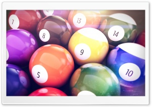 Billiards Balls HD Wide Wallpaper for 4K UHD Widescreen desktop & smartphone