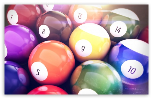 Billiards Balls HD wallpaper for Standard 4:3 5:4 Fullscreen UXGA XGA SVGA QSXGA SXGA ; Wide 16:10 5:3 Widescreen WHXGA WQXGA WUXGA WXGA WGA ; HD 16:9 High Definition WQHD QWXGA 1080p 900p 720p QHD nHD ; Other 3:2 DVGA HVGA HQVGA devices ( Apple PowerBook G4 iPhone 4 3G 3GS iPod Touch ) ; Mobile VGA WVGA iPhone iPad PSP Phone - VGA QVGA Smartphone ( PocketPC GPS iPod Zune BlackBerry HTC Samsung LG Nokia Eten Asus ) WVGA WQVGA Smartphone ( HTC Samsung Sony Ericsson LG Vertu MIO ) HVGA Smartphone ( Apple iPhone iPod BlackBerry HTC Samsung Nokia ) Sony PSP Zune HD Zen ; Tablet 2 ;