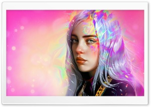 Billie Eilish FanArt Ultra HD Wallpaper for 4K UHD Widescreen desktop, tablet & smartphone