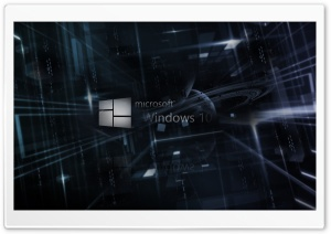 Binary Windows 10 Codes HD Wide Wallpaper for Widescreen