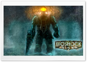 Bioshock 2 Rain Ultra HD Wallpaper for 4K UHD Widescreen desktop, tablet & smartphone