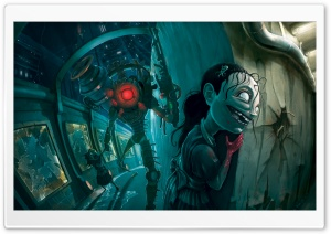 Bioshock 2 The Sisters HD Wide Wallpaper for Widescreen