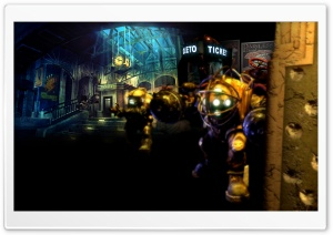 Bioshock Game Scene HD Wide Wallpaper for Widescreen