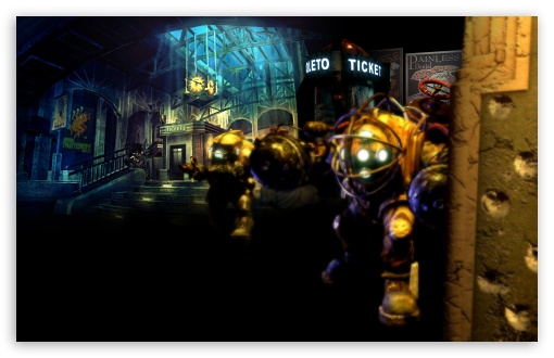 Bioshock Game Scene HD wallpaper for Wide 16:10 5:3 Widescreen WHXGA WQXGA WUXGA WXGA WGA ; HD 16:9 High Definition WQHD QWXGA 1080p 900p 720p QHD nHD ; Standard 4:3 3:2 Fullscreen UXGA XGA SVGA DVGA HVGA HQVGA devices ( Apple PowerBook G4 iPhone 4 3G 3GS iPod Touch ) ; iPad 1/2/Mini ; Mobile 4:3 5:3 3:2 16:9 - UXGA XGA SVGA WGA DVGA HVGA HQVGA devices ( Apple PowerBook G4 iPhone 4 3G 3GS iPod Touch ) WQHD QWXGA 1080p 900p 720p QHD nHD ;