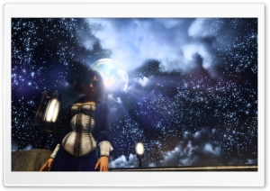 BioShock Infinite Elizabeth and the starry sky HD Wide Wallpaper for Widescreen