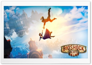 BioShock Infinite Falling Ultra HD Wallpaper for 4K UHD Widescreen desktop, tablet & smartphone