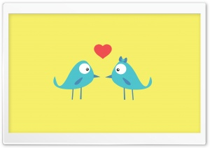 Birds In Love HD Wide Wallpaper for Widescreen