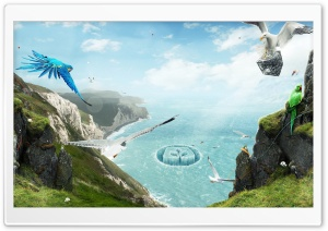 Birds Paradise HD Wide Wallpaper for Widescreen