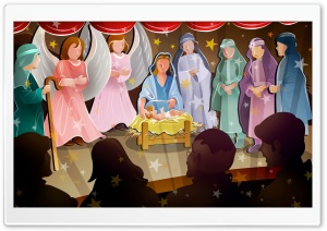 Birth Of Jesus Christ HD Wide Wallpaper for Widescreen