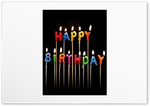 Birthday Candles HD Wide Wallpaper for Widescreen