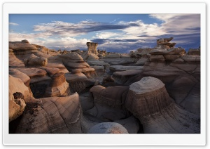 Bisti Badlands, San Juan County, New Mexico, US HD Wide Wallpaper for Widescreen