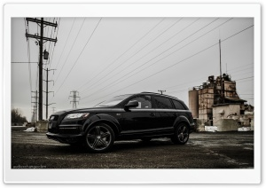 Black 2012 Audi Q7 S-line HD Wide Wallpaper for Widescreen