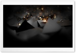 Black Abstract Design HD Wide Wallpaper for 4K UHD Widescreen desktop & smartphone