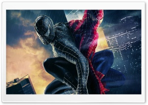 Black And Colored Spiderman HD Wide Wallpaper for Widescreen