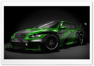 Black And Green Tuned BMW HD Wide Wallpaper for Widescreen
