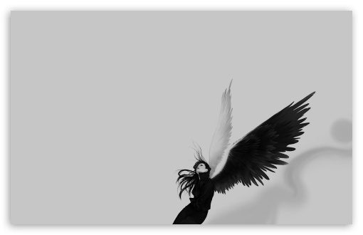 Black And White Angel HD wallpaper for Wide 16:10 5:3 Widescreen WHXGA WQXGA WUXGA WXGA WGA ; HD 16:9 High Definition WQHD QWXGA 1080p 900p 720p QHD nHD ; Standard 4:3 5:4 3:2 Fullscreen UXGA XGA SVGA QSXGA SXGA DVGA HVGA HQVGA devices ( Apple PowerBook G4 iPhone 4 3G 3GS iPod Touch ) ; Tablet 1:1 ; iPad 1/2/Mini ; Mobile 4:3 5:3 3:2 16:9 5:4 - UXGA XGA SVGA WGA DVGA HVGA HQVGA devices ( Apple PowerBook G4 iPhone 4 3G 3GS iPod Touch ) WQHD QWXGA 1080p 900p 720p QHD nHD QSXGA SXGA ;
