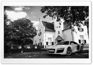 Black And White Audi R8 HD Wide Wallpaper for 4K UHD Widescreen desktop & smartphone