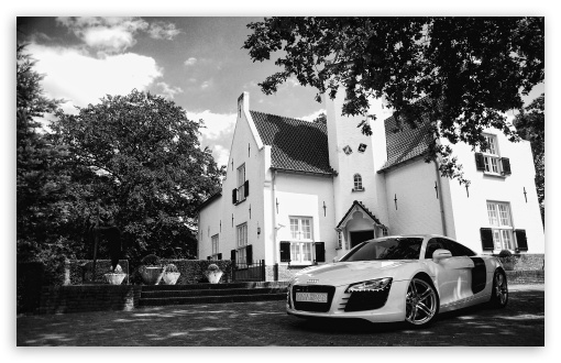 Black And White Audi R8 4k Hd Desktop Wallpaper For 4k Ultra Hd
